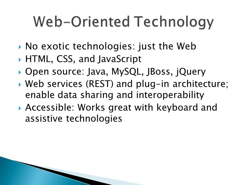 Web-Oriented Technology