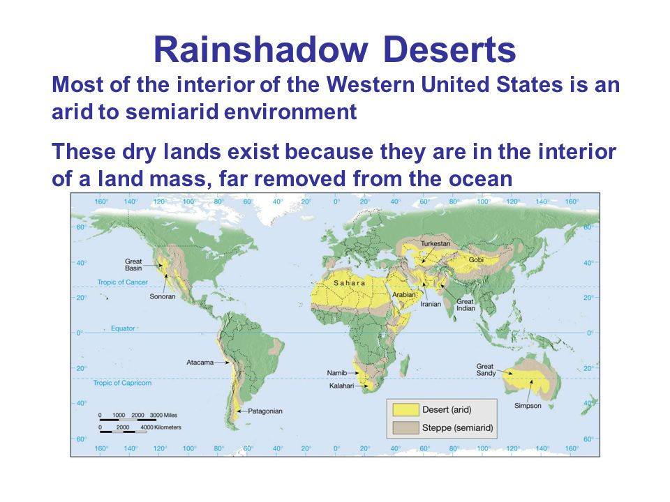 Deserts And Winds Ppt Download - Rain shadow map us