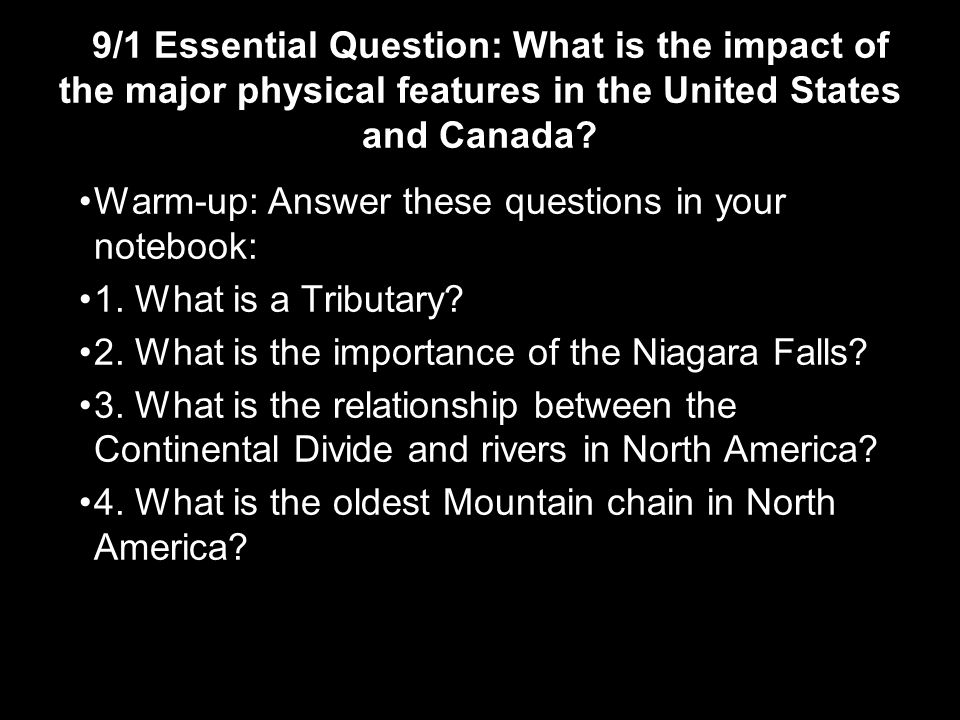 United States Canada Major Landforms Rocky Mountains Western - Major physical features of united states