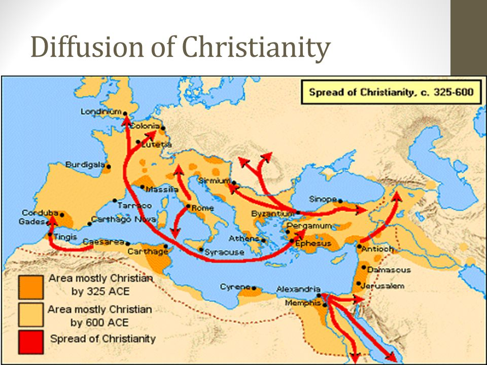 diffusion of buddhism and christianity In the first century bc, buddhism was introduced into yutian (now hetian)   manicheism is a mixture of zoroastrianism, judaism, christianity and ancient  greek  muslims traveled to china by the silk road or the sea route to spread  islam.