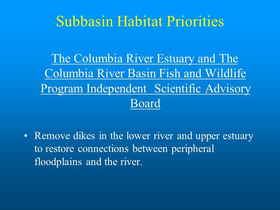 Subbasin Habitat Priorities