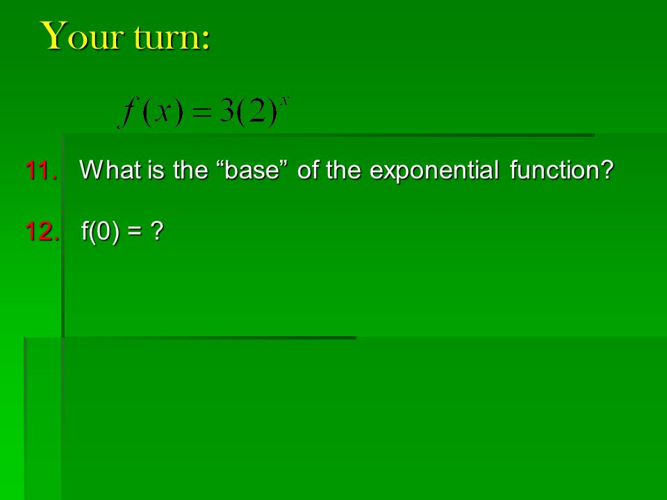 Exponential Growth Exponential Decay Ppt Video Online