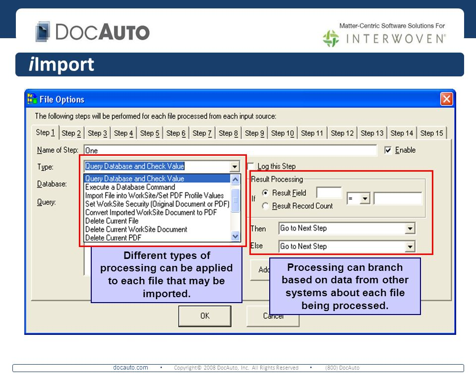 iImport Set each step for the import process for each document, including setting security and converting imported content to encrypted PDF.