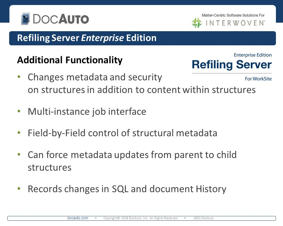 Refiling Server Enterprise Edition