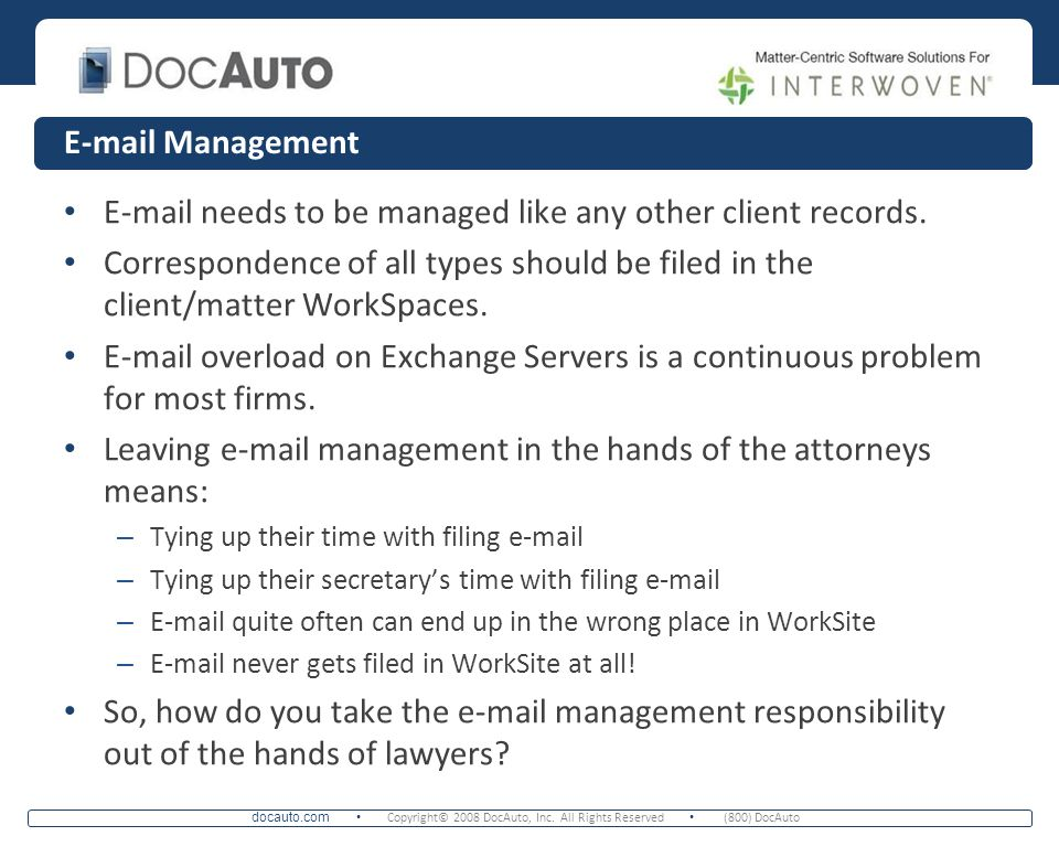 needs to be managed like any other client records.