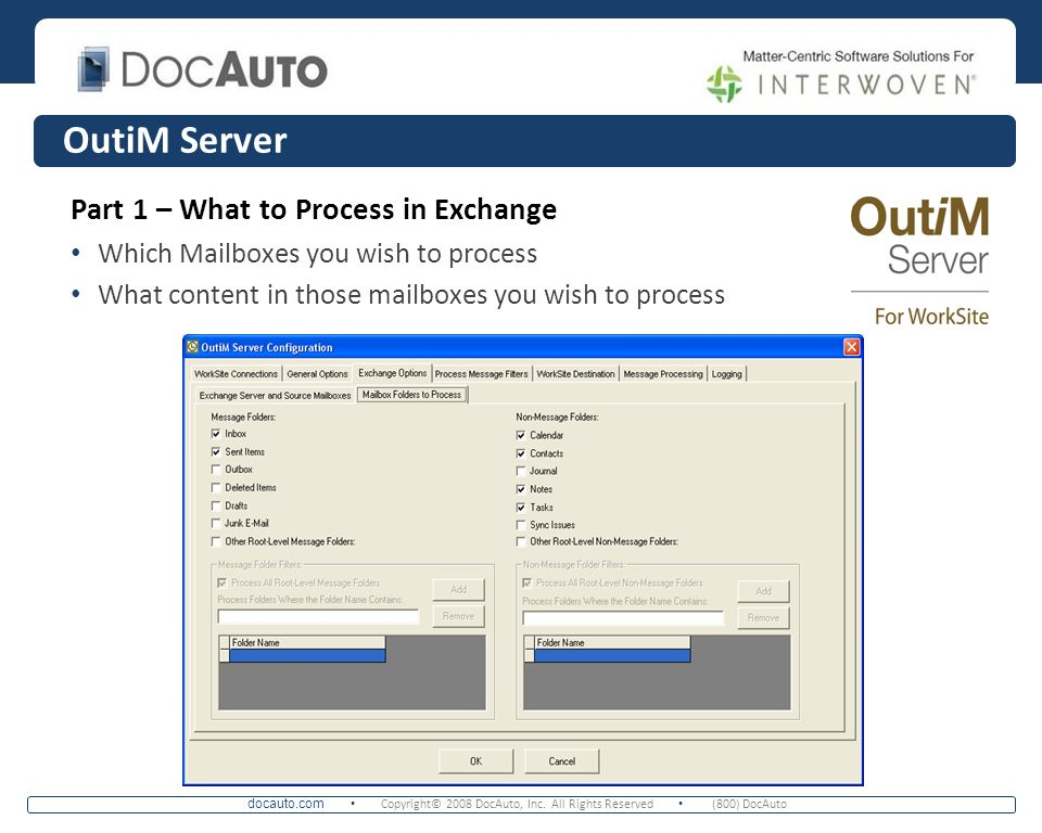 OutiM Server Part 1 – What to Process in Exchange