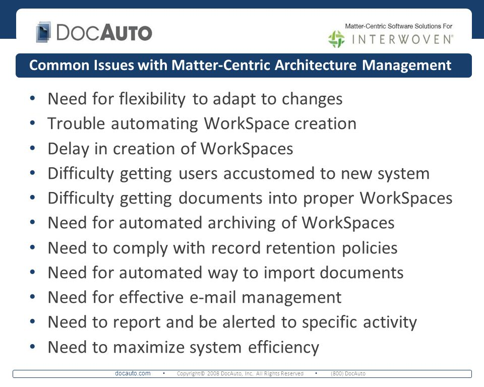Common Issues with Matter-Centric Architecture Management