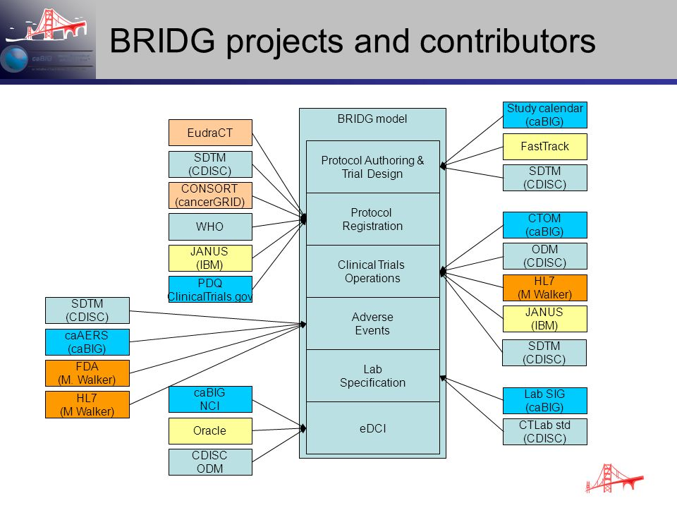 BRIDG projects and contributors