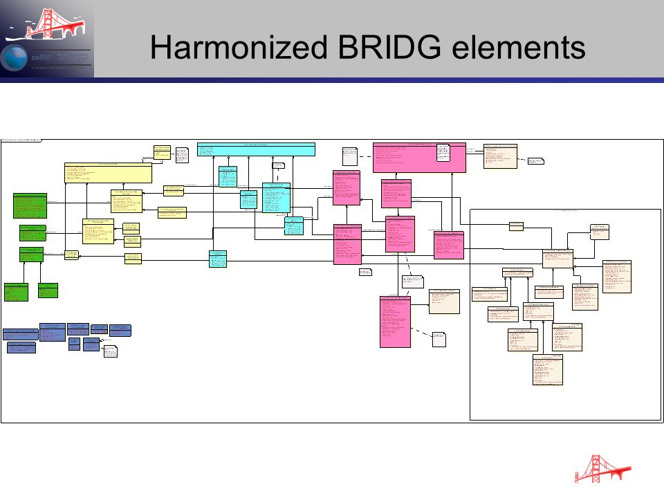 Harmonized BRIDG elements