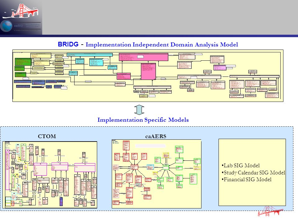 BRIDG - Implementation Independent Domain Analysis Model