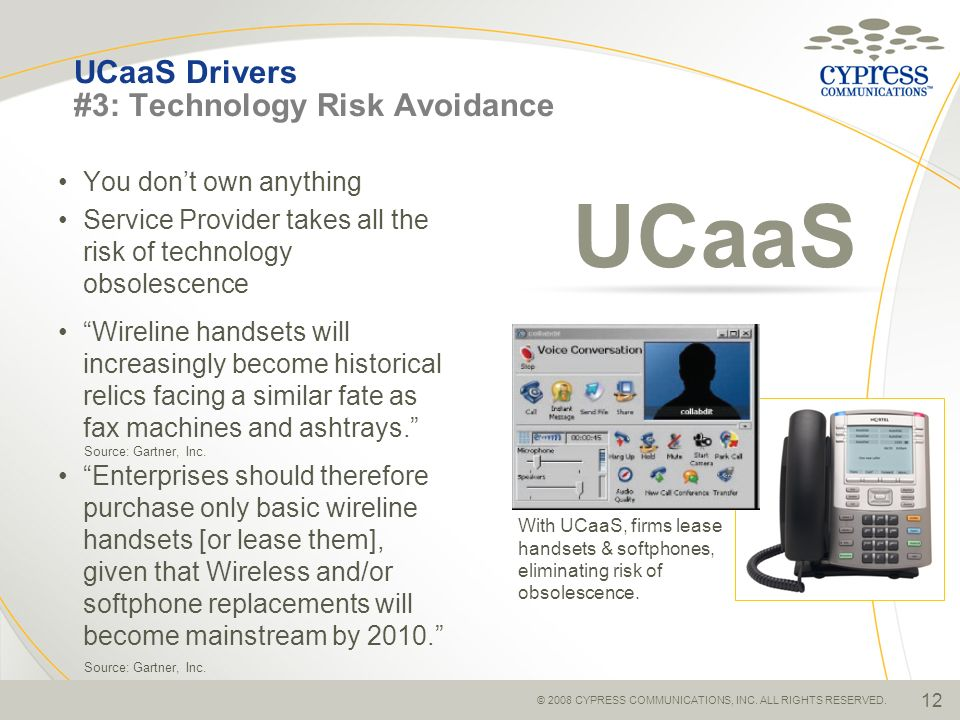 UCaaS Drivers #3: Technology Risk Avoidance