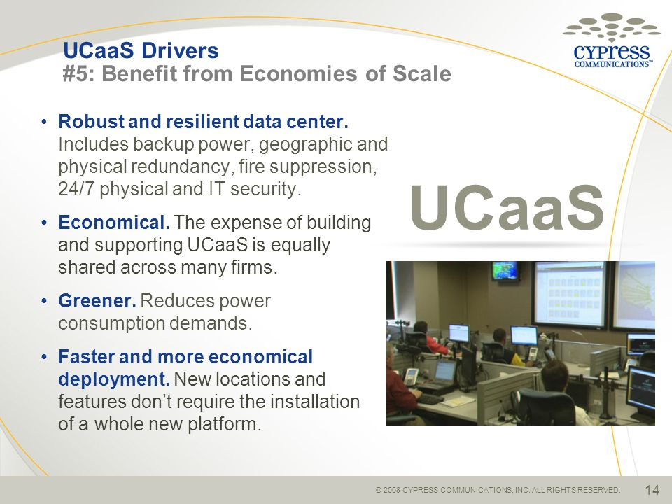 UCaaS Drivers #5: Benefit from Economies of Scale