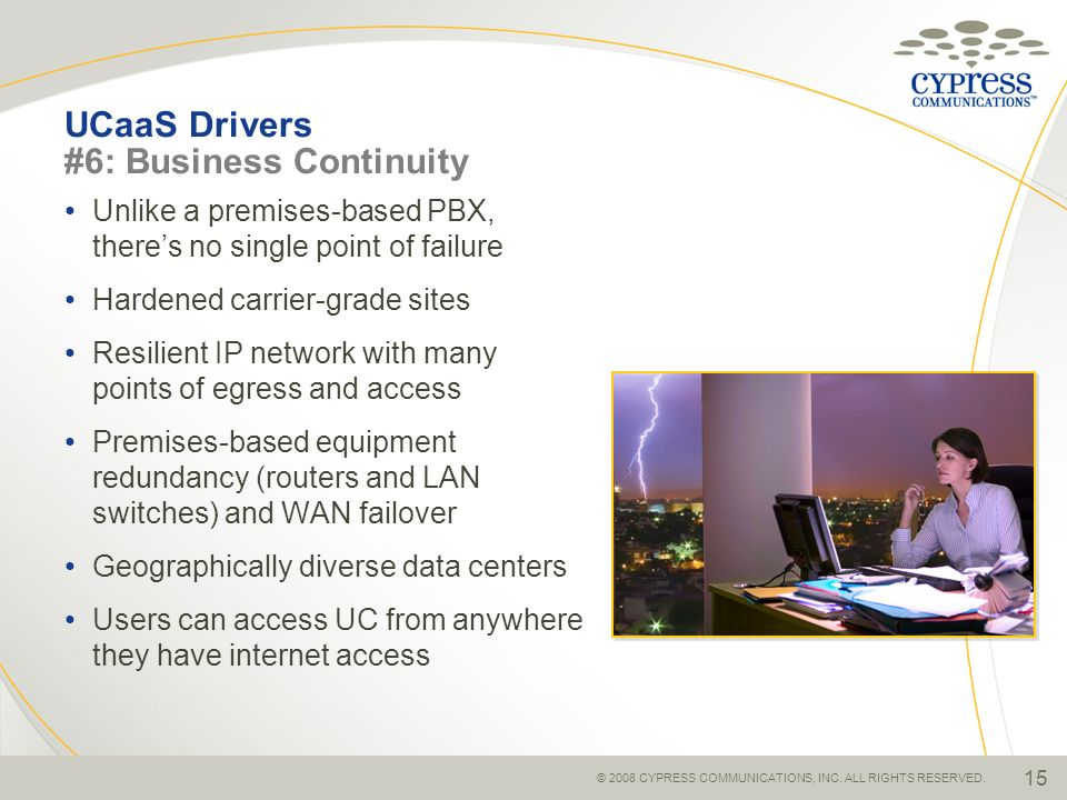 UCaaS Drivers #6: Business Continuity
