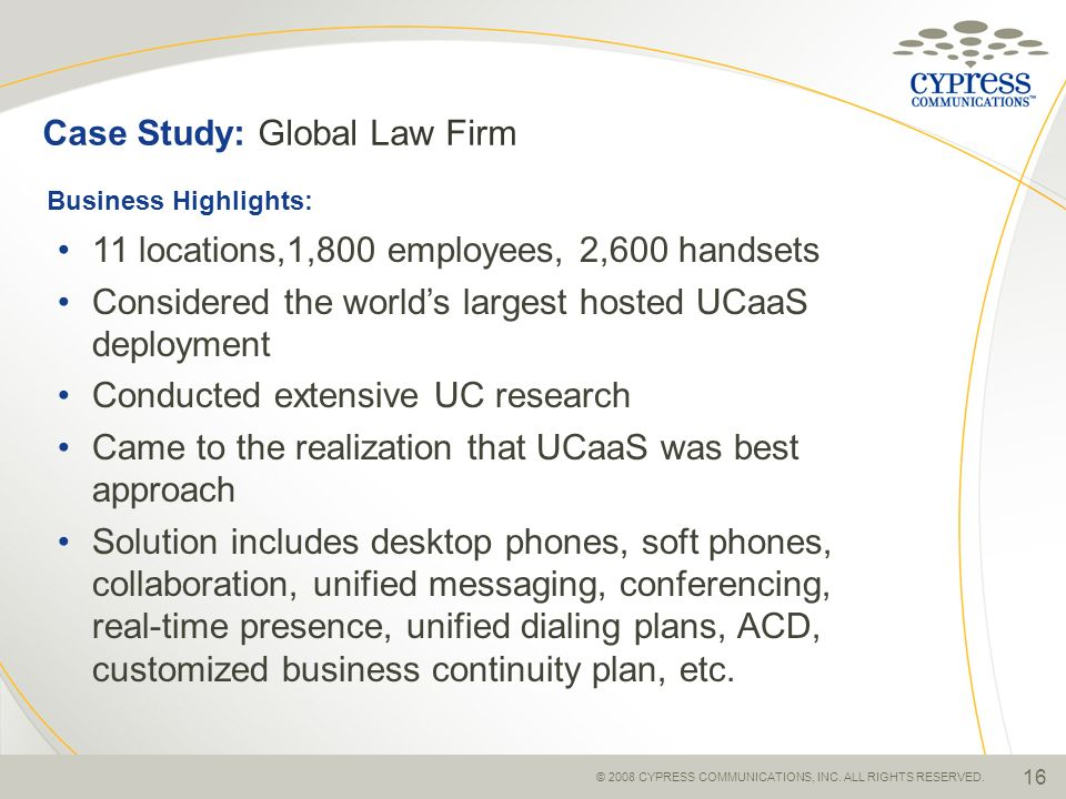 Case Study: Global Law Firm