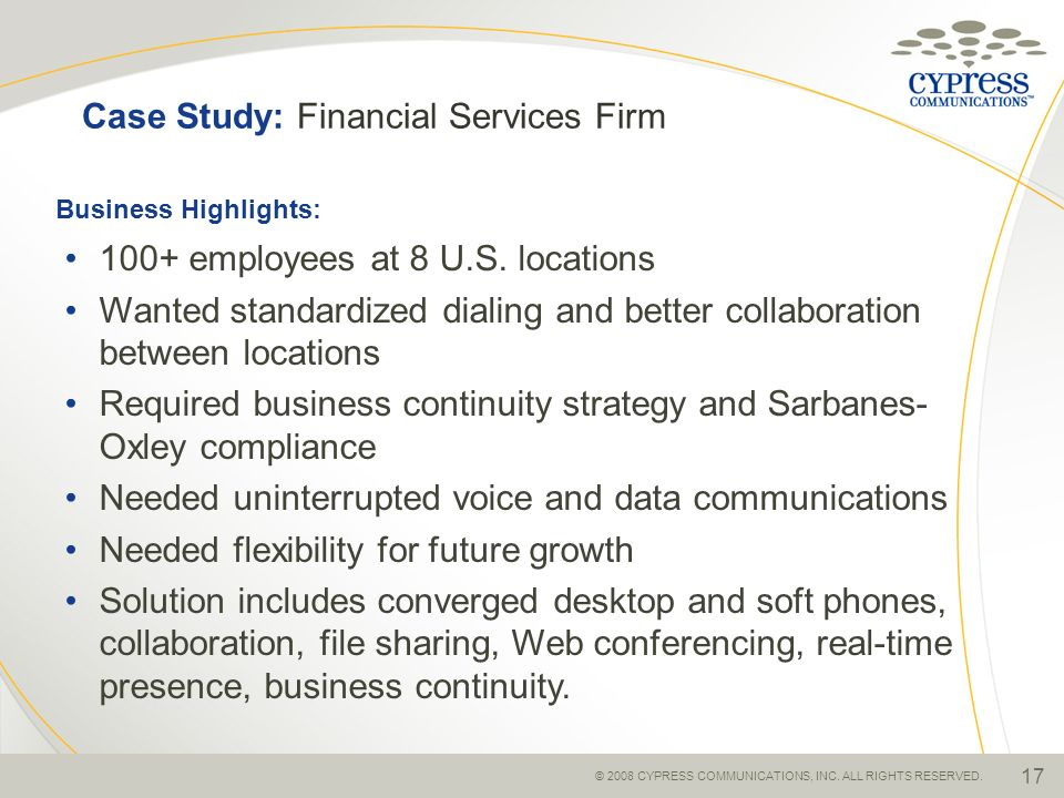 Case Study: Financial Services Firm