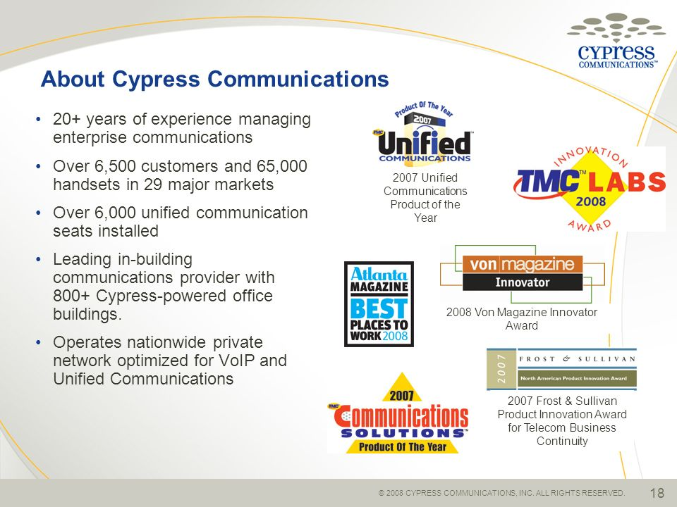About Cypress Communications