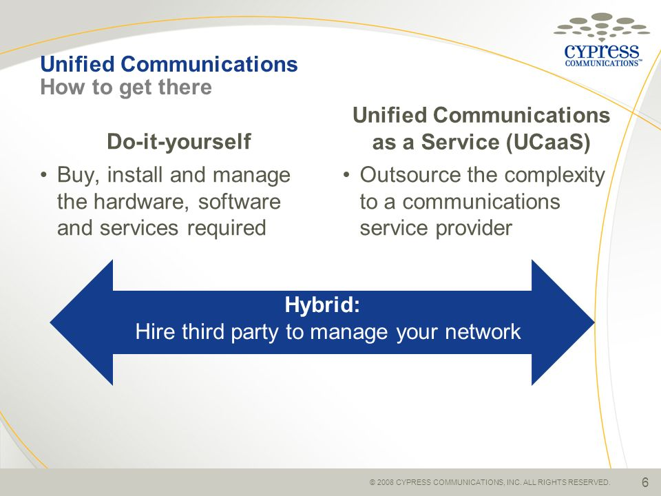 Unified Communications How to get there