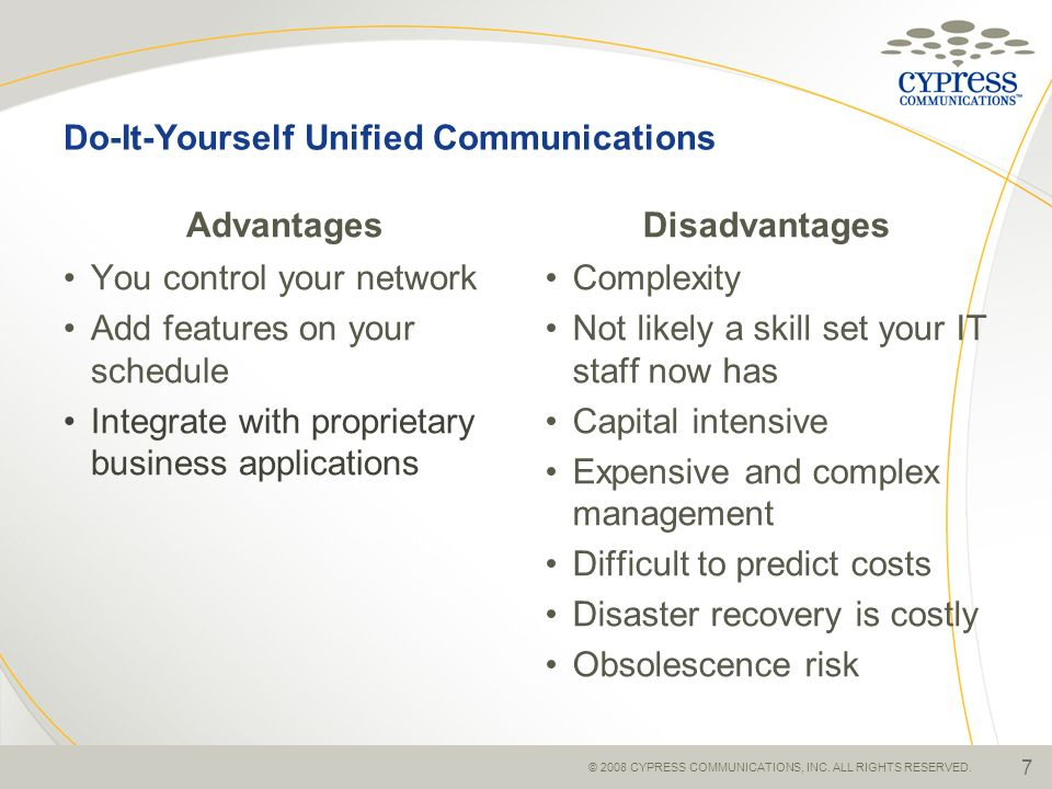 Do-It-Yourself Unified Communications