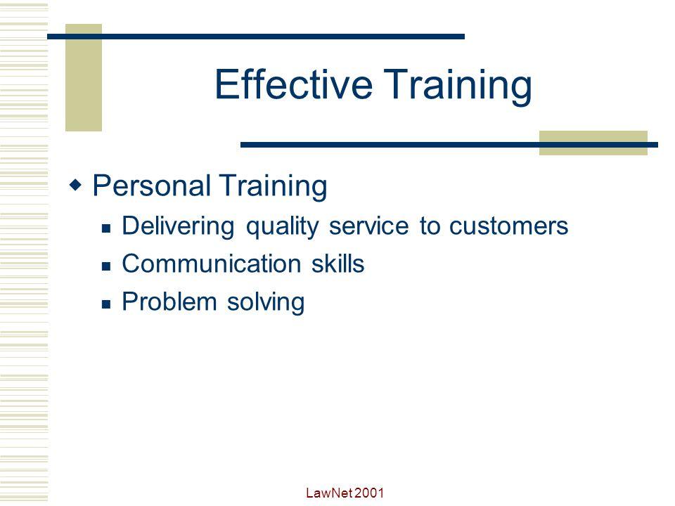 Effective Training Personal Training