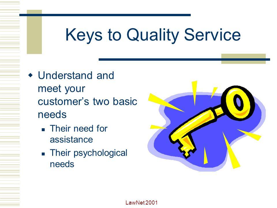 Keys to Quality Service