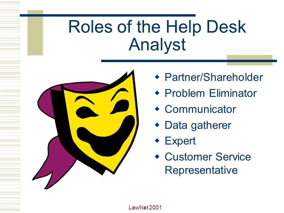 Roles of the Help Desk Analyst