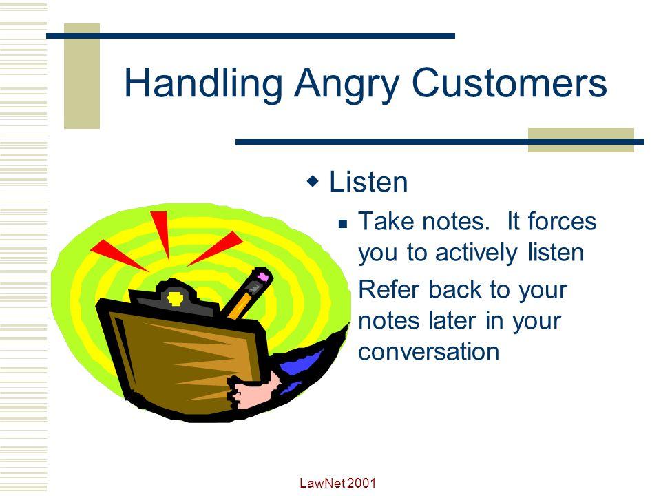Handling Angry Customers