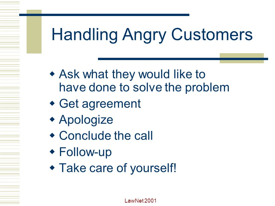 empathy statements for irate customers