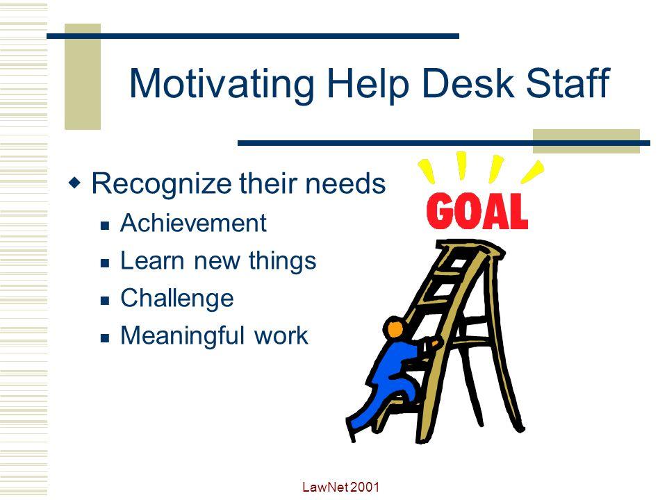 Motivating Help Desk Staff