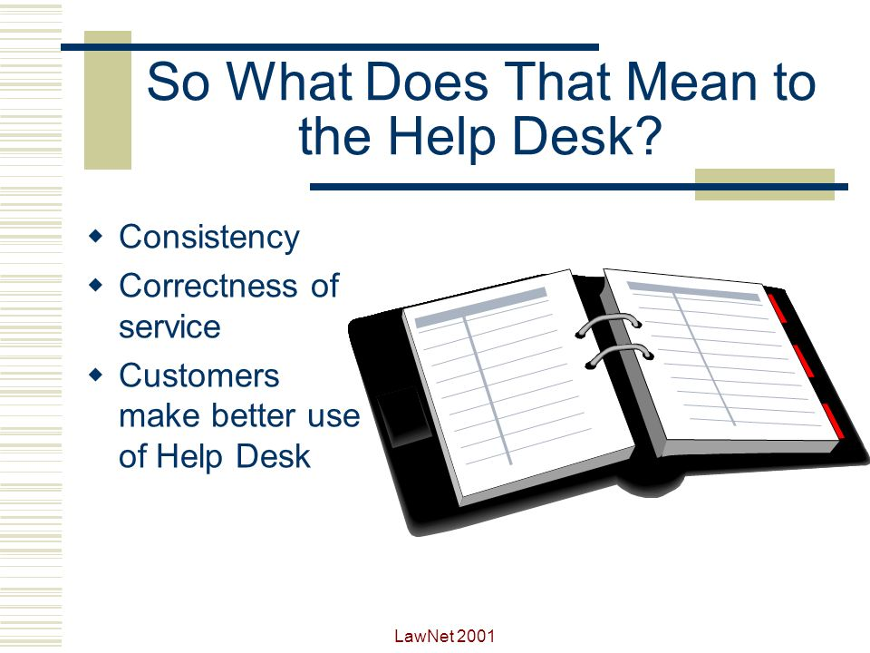 So What Does That Mean to the Help Desk
