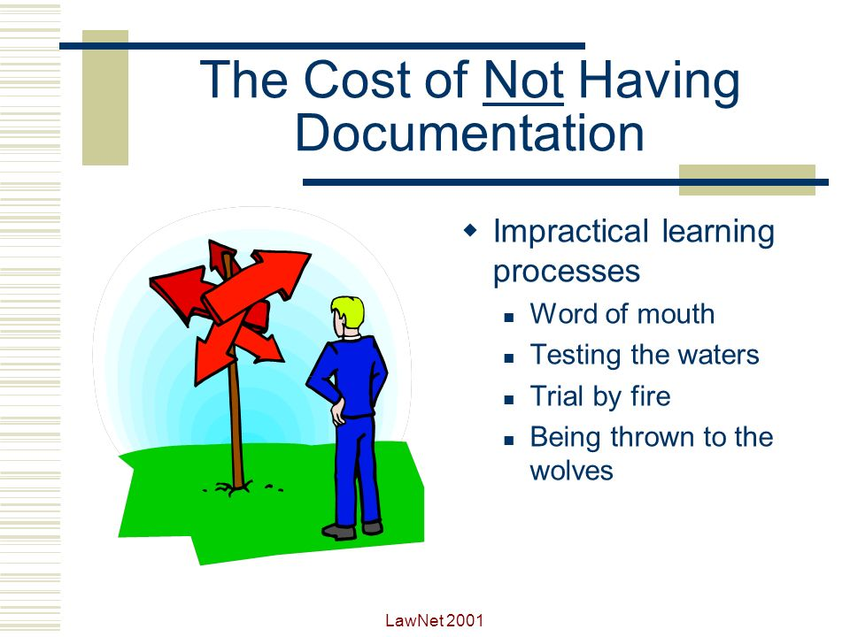 The Cost of Not Having Documentation