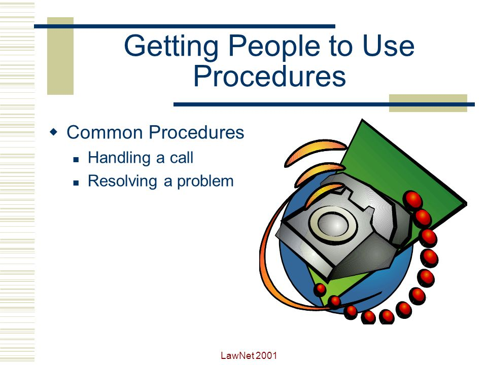Getting People to Use Procedures