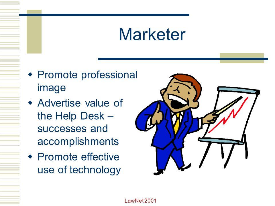 Marketer Promote professional image