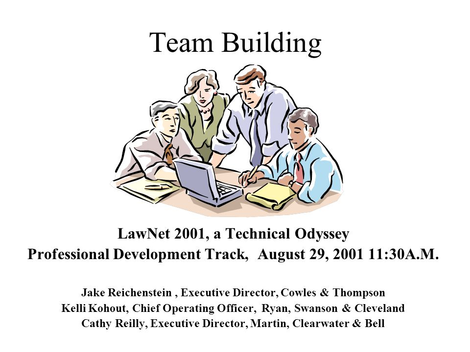 Team Building LawNet 2001, a Technical Odyssey