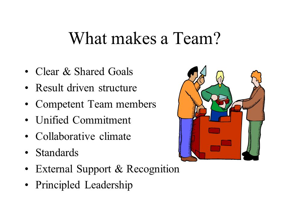 What makes a Team Clear & Shared Goals Result driven structure