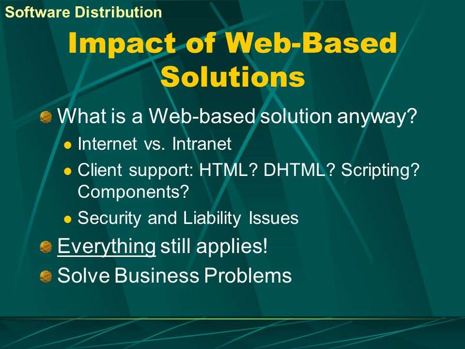 Impact of Web-Based Solutions
