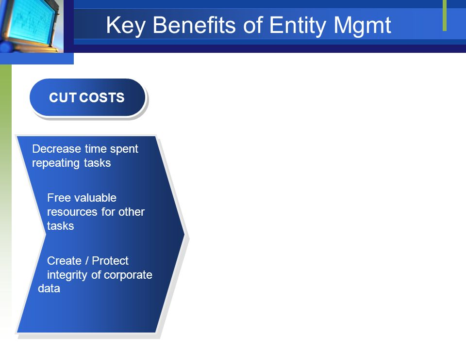 Key Benefits of Entity Mgmt