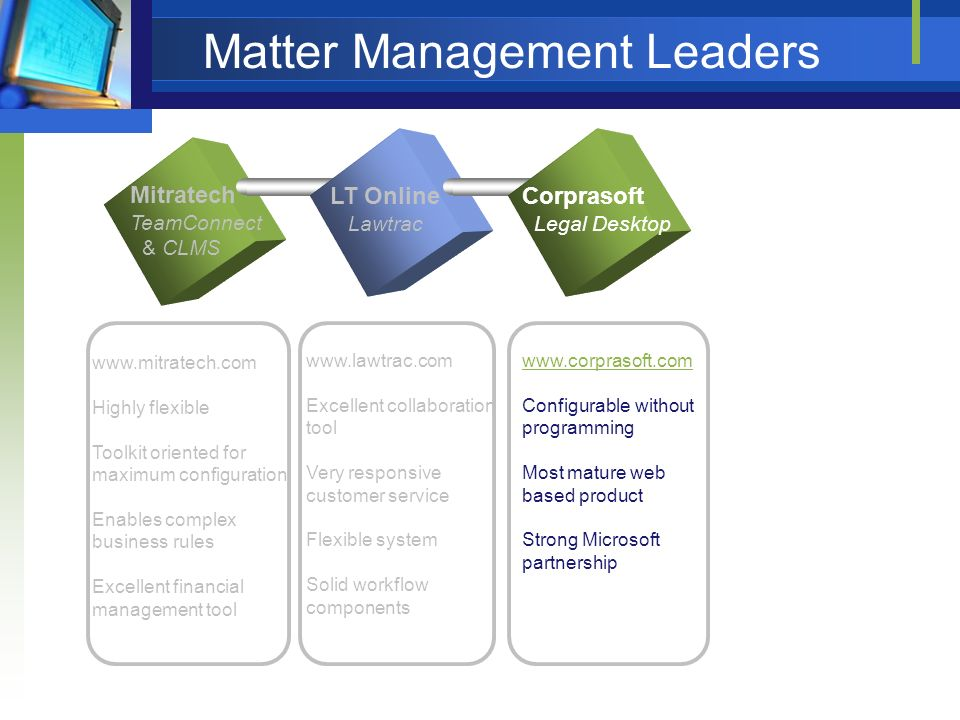 Matter Management Leaders