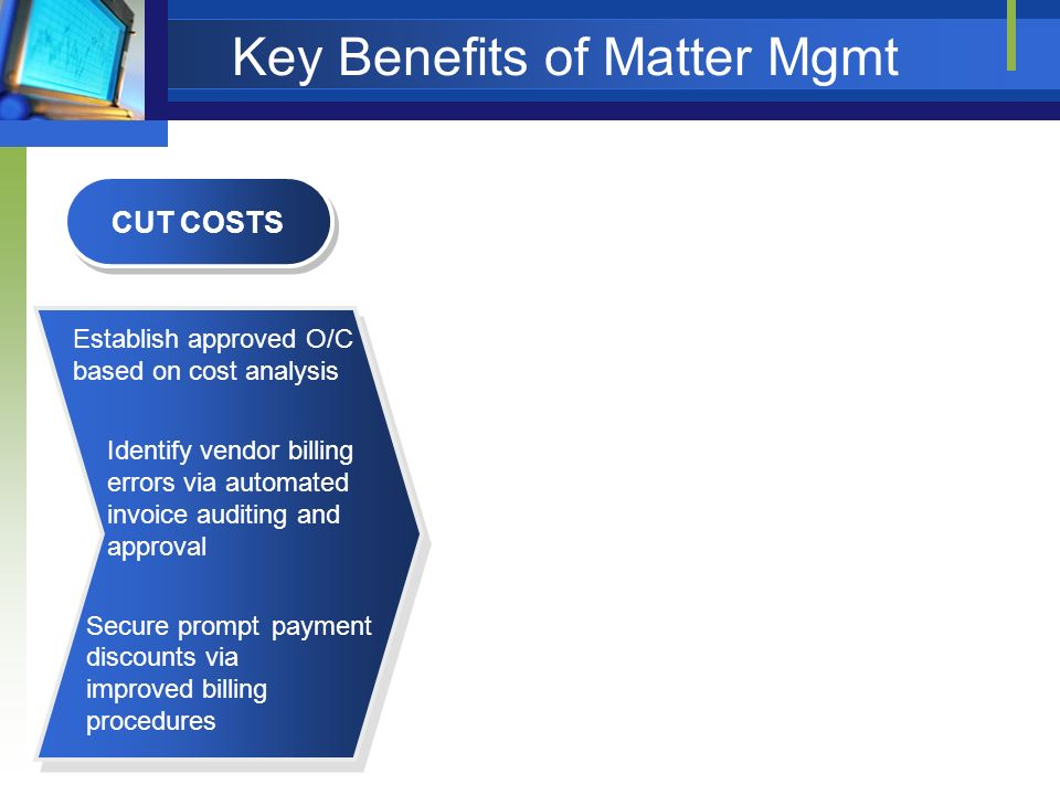 Key Benefits of Matter Mgmt