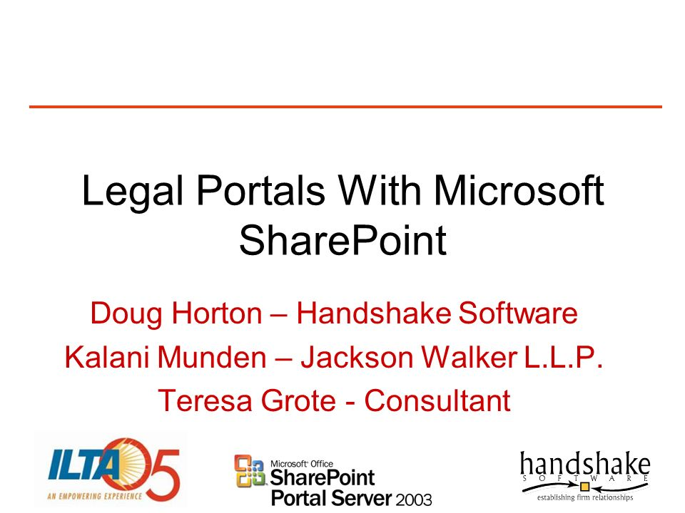 Legal Portals With Microsoft SharePoint