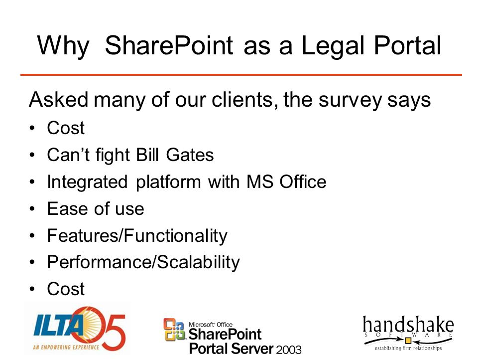 Why SharePoint as a Legal Portal