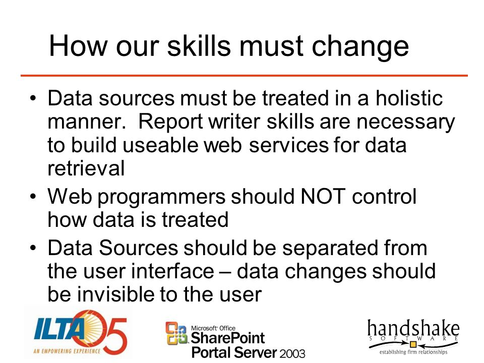 How our skills must change