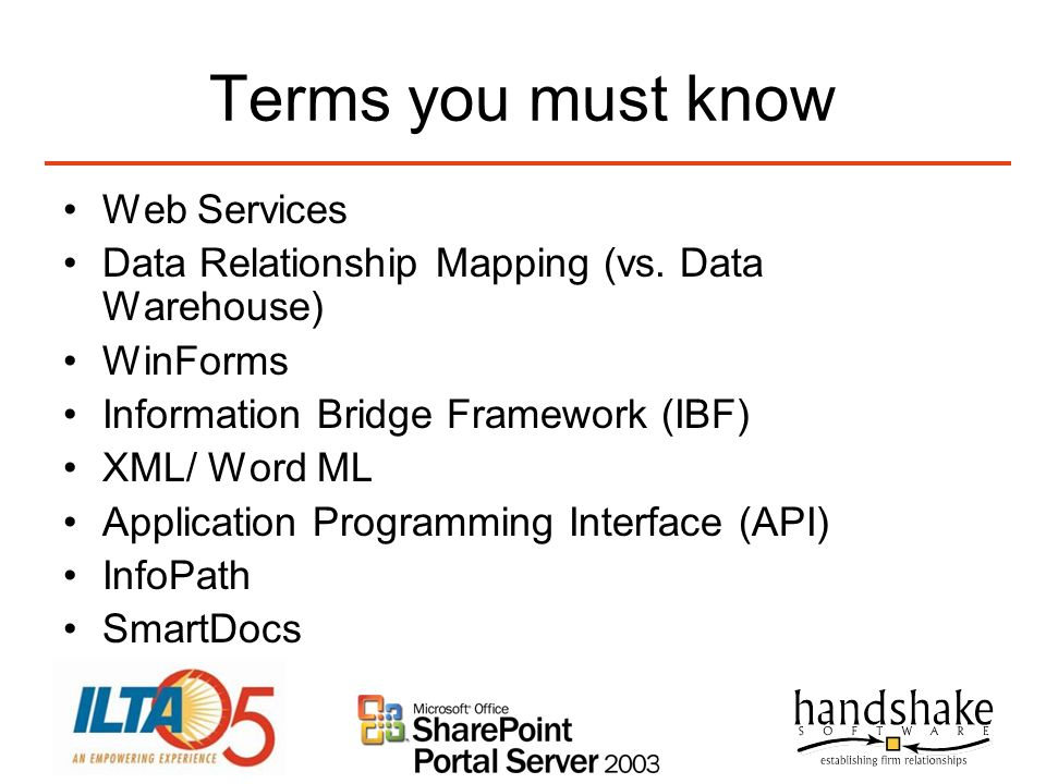 Terms you must know Web Services