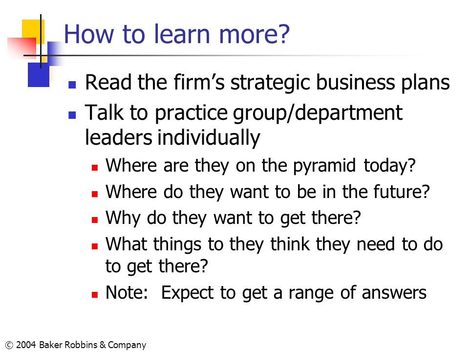 How to learn more Read the firm's strategic business plans