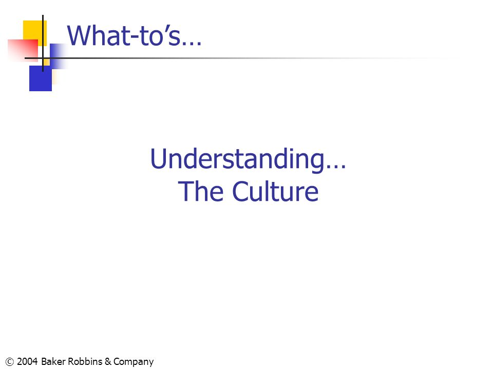 Understanding… The Culture