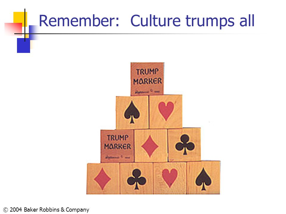 Remember: Culture trumps all