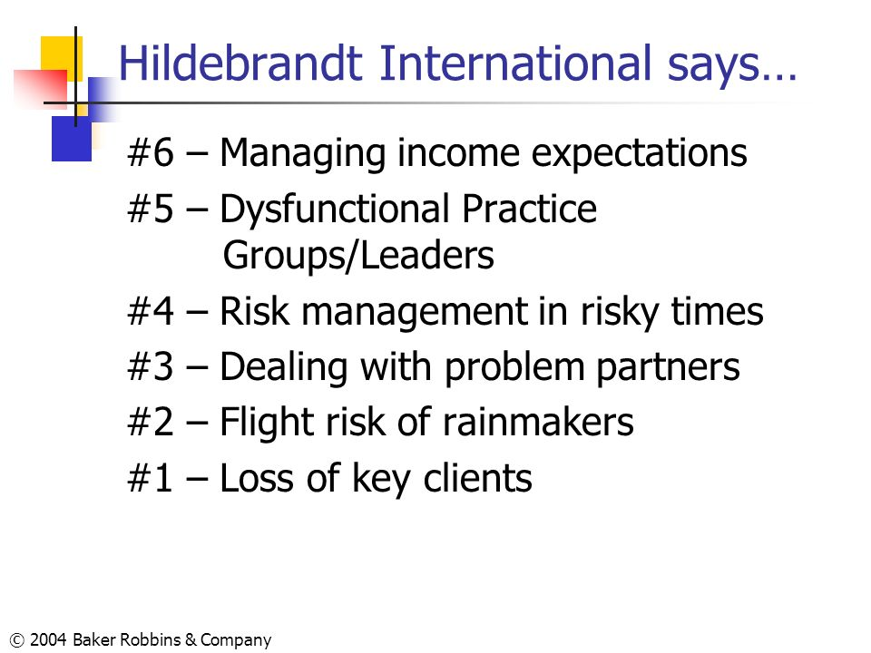Hildebrandt International says…