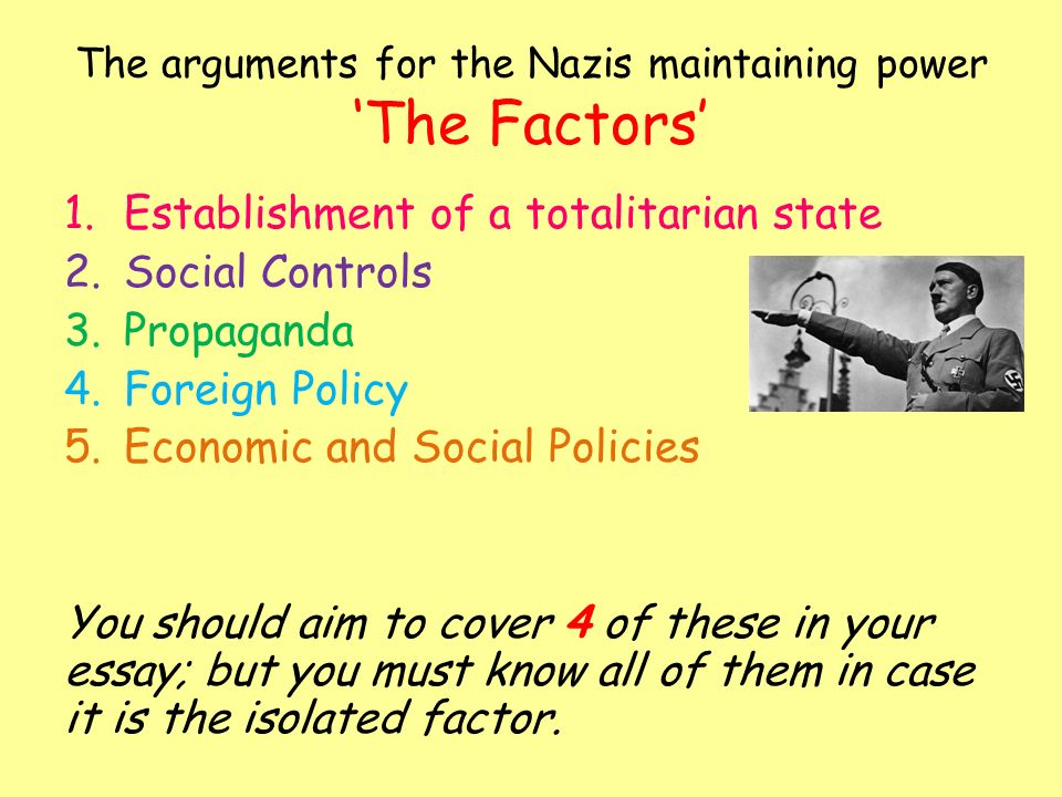 did hitler rule a totalitarian state essay These slides summarise the impact of hitler's rule over germany just like   political impact consolidation of power how did hitler gain absolute power over  germany in 18 months  this is known as a totalitarian regime (p.