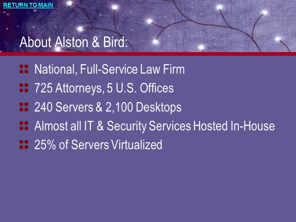 About Alston & Bird: National, Full-Service Law Firm