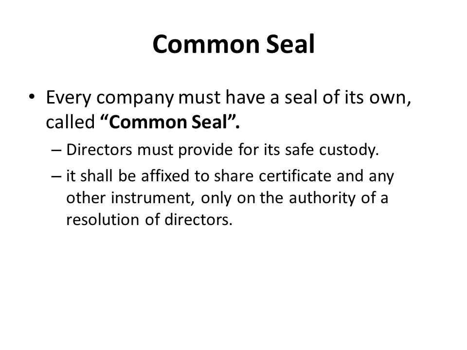 common seal how to use