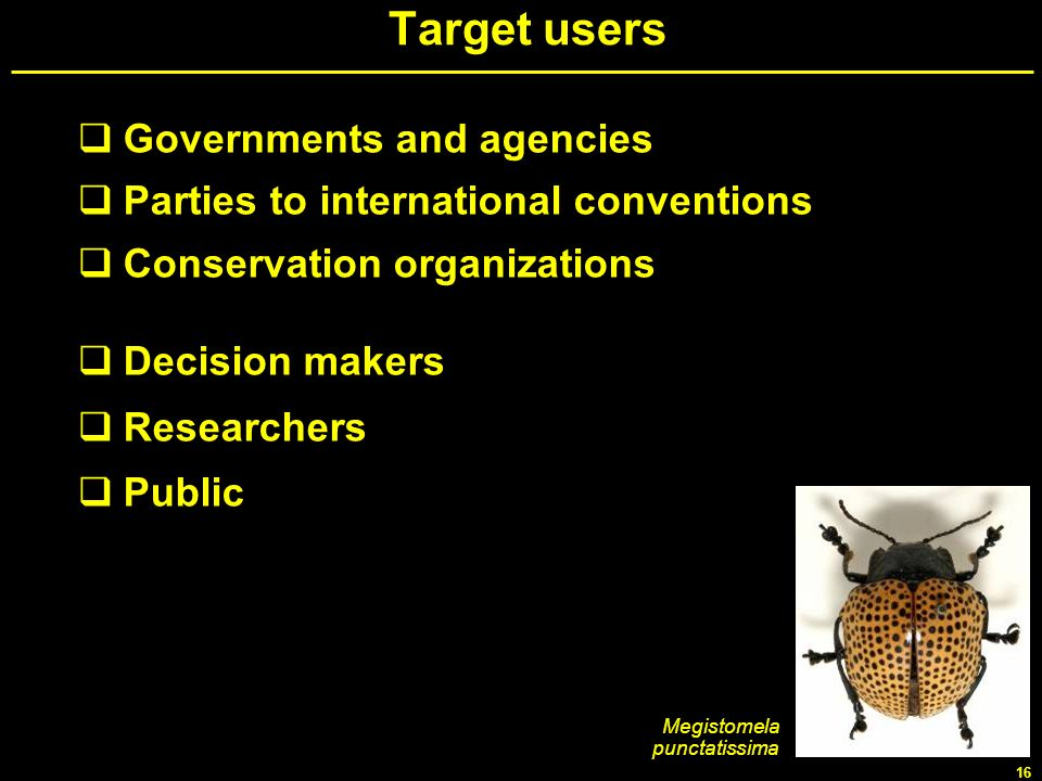 Target users Governments and agencies